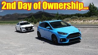 Police Not Happy - Top Speed Test in the Ford Focus RS