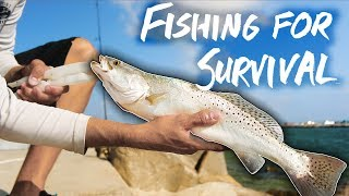 SURVIVAL FISHING one week eating ONLY the fish I catch