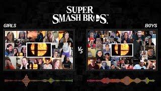 Women vs. Men Reaction to Super Smash Bros. teaser for Nintendo Switch
