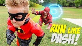 Run Like DASH, Future Little FLASH! The Incredibles 2 Gear Test for Kids!