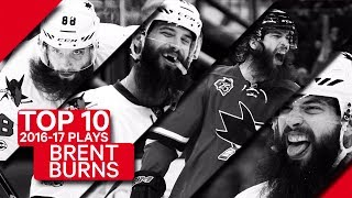 Top 10 Brent Burns plays of 2016-17