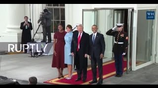 LIVE: Obama welcomes president-Elect Donald Trump and Mrs. Trump to White House