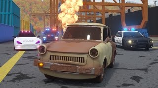 Catching Ace the Lemon Car - Sergeant Cooper the Police Car 2   Police Chase Videos For Children