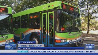 Skip the traffic, save gas and ride the bus for free in the Triangle today