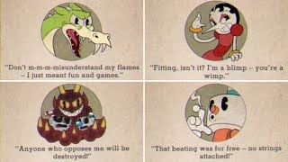 Cuphead   All Boss Quotes & Game Over Screens