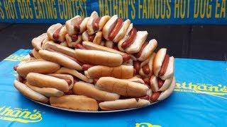 Nathans Hot Dog Eating Contest 2013