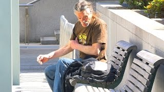 Homeless Man Does Breathtaking Act Social Experiment