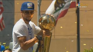 Stephen Curry Goes Crazy At Golden State Warriors Championship Parade 2018!