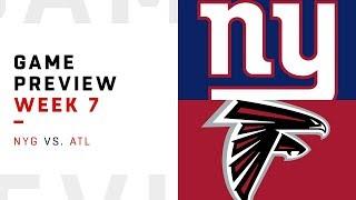 New York Giants vs. Atlanta Falcons | Week 7 Game Preview | Pro Football Focus