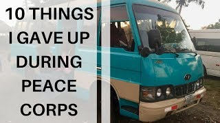 10 Things I Gave Up When I Joined Peace Corps