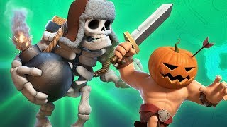 Giant Skeleton & Pumpkin Barbarian (Clash of Clans Halloween Official)