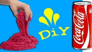 Kinetischen Sand mit Coca Cola selber herstellen! DiY