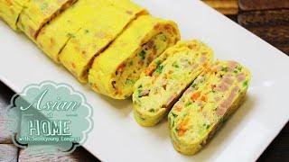 Asian at Home | Korean Egg Roll/Rolled Omelet