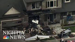 Utah Man Crashes Plane Into Own House After Being Arrested For Assaulting Wife | NBC Nightly News