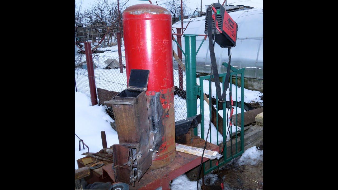 Печка на дровах ракета