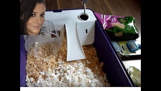 SETTING UP A HAMSTER CAGE AND UNBOXING MY NEW HAMSTER