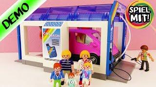 Playmobil AUTOWASCHANLAGE Demo Deutsch - Car Wash - Autowasch Tunnel mit Bürsten