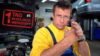 1 Tag in Holgers Werkstatt - Teil 5   Hört das Ruckeln nach dem Getriebeölwechsel auf?