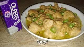 Chicken White Handi, makhani handi with Olper