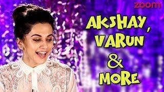Taapsee Pannu On Akshay Kumar, Varun Dhawan & More   Diwali Beats