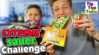 WARHEADS EXTREME SOUR CANDY CHALLENGE - Extrem saure Süßigkeiten! TipTapTube