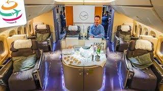 5-Sterne Lufthansa First Class 747-8 & First Class Terminal | GlobalTraveler.TV