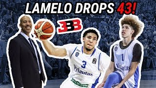 LaMelo Ball Scores 43 & LiAngelo Ball Puts Up 37 In LITHUANIA! LaVar Coaches! FULL HIGHLIGHTS!