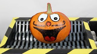Experiment Shredding Funny Pumpkin And Toys | The Crusher