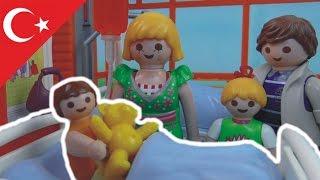 Playmobil Hikayeleri Elif Hastanelik Oluyor  - Playmobil Türkçe Hauser Ailesi