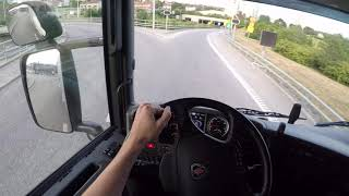 Awesome & Relaxing Scania G490 + Trailer 24m long Truck driving (POV, GoPro headview) 2017