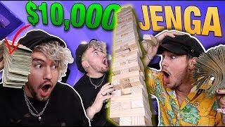 $10,000 GAME OF LIFE-SIZED JENGA!!! (7 FOOT BOARD GAME)