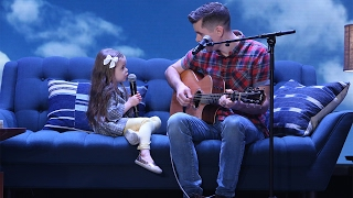 Adorable Singing Father-Daughter Duo Performs