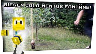 Die größte Cola Mentos Fontäne? (mit LeKoopa) - Heimexperimente #25