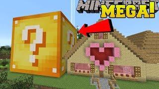 Minecraft: MEGA LUCKY BLOCK!! (LUCKY BLOCK BIGGER THAN A HOUSE!)