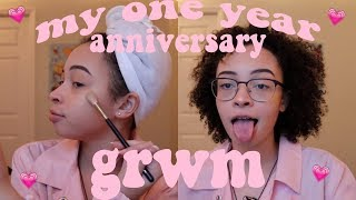 my one year anniversary get ready with me - makeup & outfit (part 1) | aliyah simone