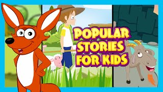 SHORT STORIES FOR KIDS IN ENGLISH |Popular Stories (15+) For Children |The Fox Without A Tail & More
