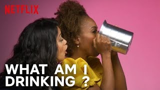 Cast of Someone Great Plays What Am I Drinking With Tipsy Bartender   Netflix