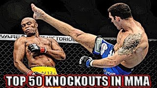 TOP 50 PAINFUL KNOCKOUTS IN MMA ! ULTIMATE UFC KNOCKOUTS! САМЫЕ ЖЕСТОКИЕ НОКАУТЫ