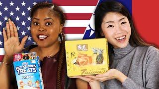 American & Taiwanese People Swap Snacks