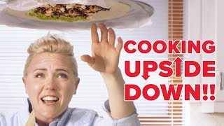 Upside Down Cooking Challenge: Giant Burrito