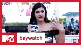 Alexandra Daddario on Wearing the Iconic Red 'Baywatch' Bathing Suit | MTV