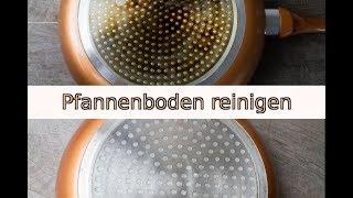 Dreckigen Pfannenboden / Topfboden schnell und einfach reinigen mit Backofenreiniger
