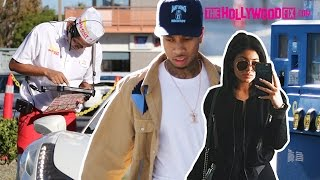 Tyga & Kylie Jenner Get Gas, Go To In-N-Out Burger & Drive Past Kendall On The Highway 11.6.15