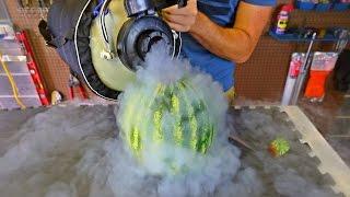 Pouring Liquid Nitrogen in Watermelon