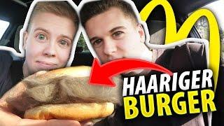 McDonalds PRANK   HAARE AUF DEM BURGER PRANK!