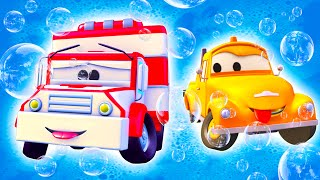 Amber der Krankenwagen - Toms Autowaschanlage in Autopolis | Lastwagen Zeichentrickfilme für Kinder