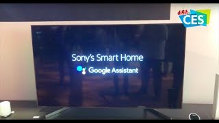 CES 2018: Sony Android TV with Google Assistant Demo & First Look | Digit.in
