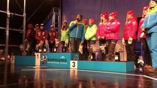 Siegerehrung: Deutsche Damen-Staffel gewinnt in Ruhpolding