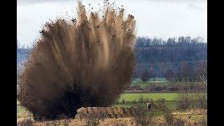 Fliegerbombe in Merseburg gesprengt