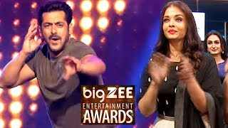 Aishwarya Rai Cheers Salman Khan During Performance - Big Zee Entertainment Awards 2017